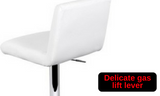 Set of 2 Kitchen Bar Stool White