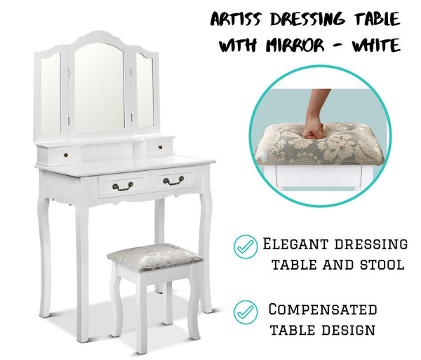 Elegant Makeup Vanity Table