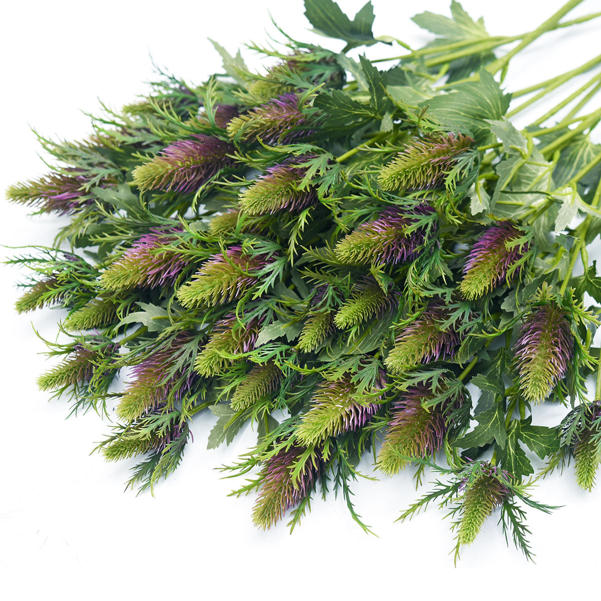FiveSeasonStuff Real Size Artificial Eryngium(Sea Holly)- Purple | Green