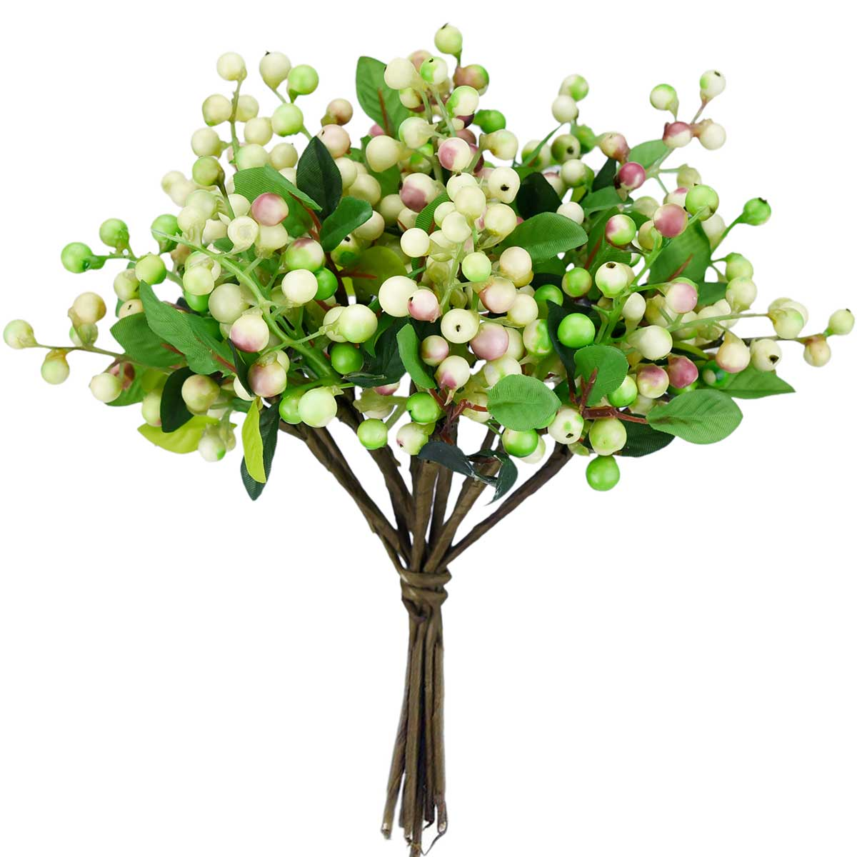 10 Stems Artificial Pink Berry Bouquet 9.8 Inches (25cm)