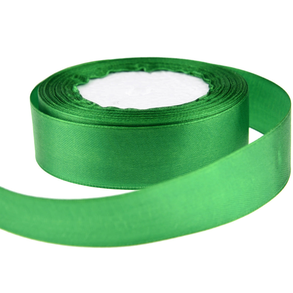 10mm Green Single Sided Satin Ribbon