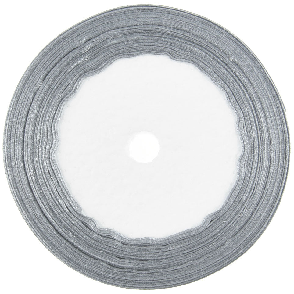 10mm Gray Single Sided Satin Ribbon