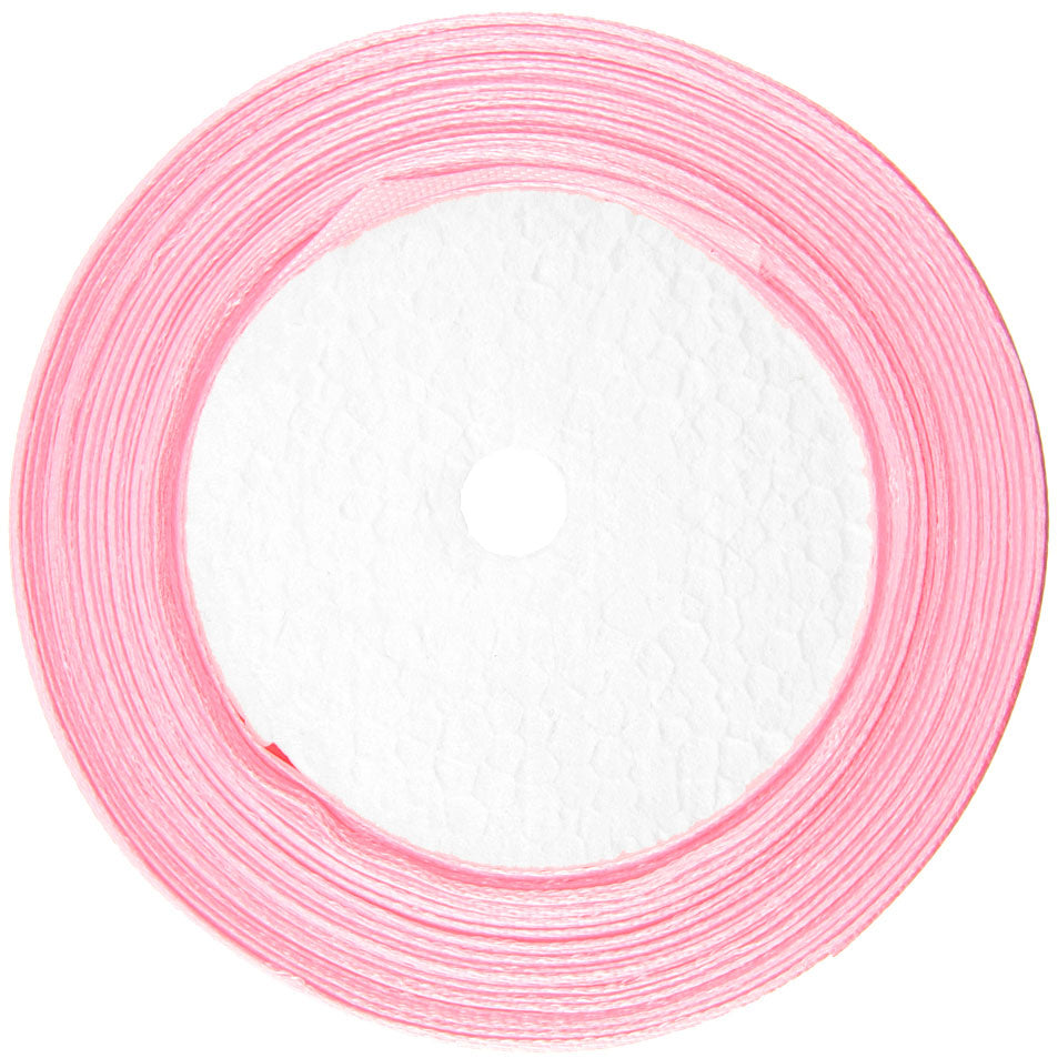 10mm Light Pink Single Sided Satin Ribbon