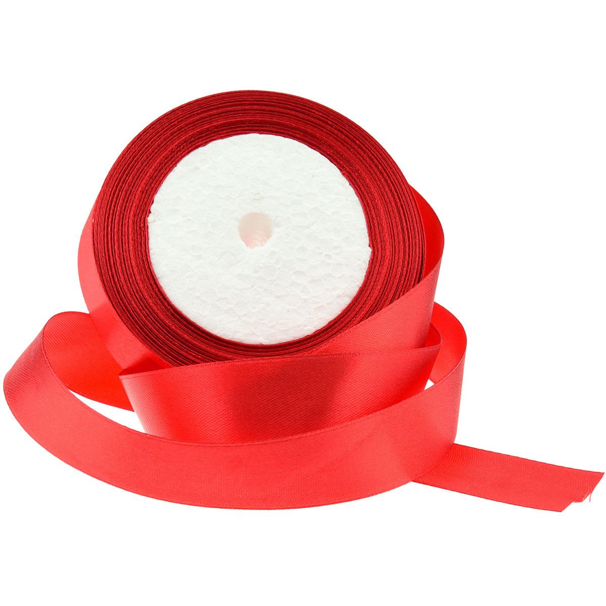 20mm Red Single Sided Satin Ribbon
