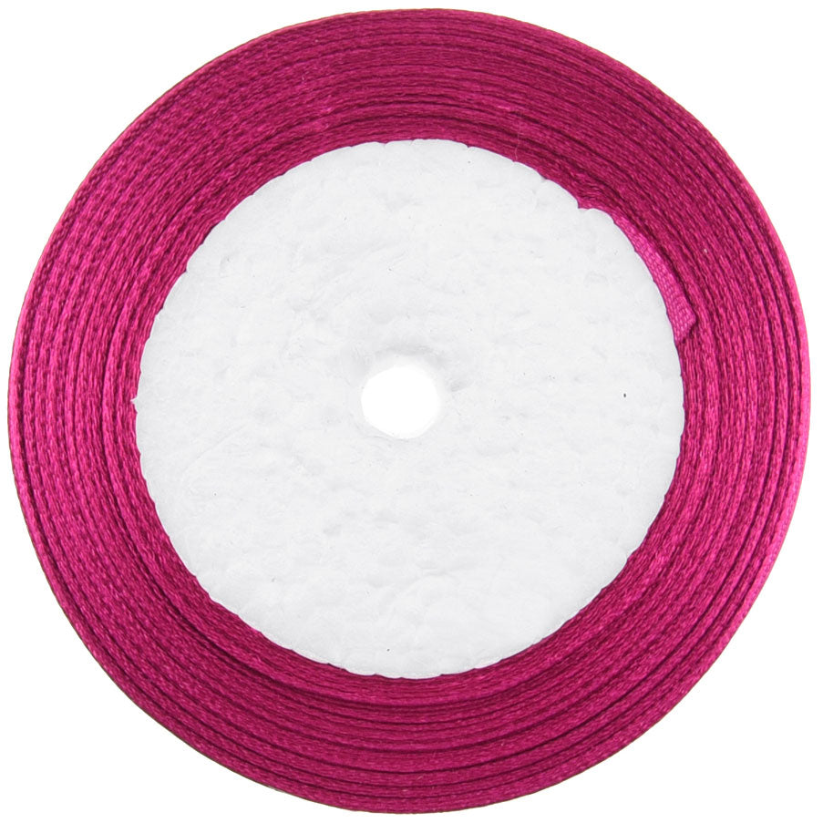10mm Amaranth Single Sided Satin Ribbon