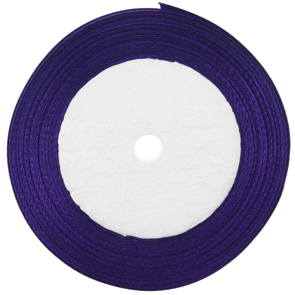 10mm Purple Single Sided Satin Ribbon