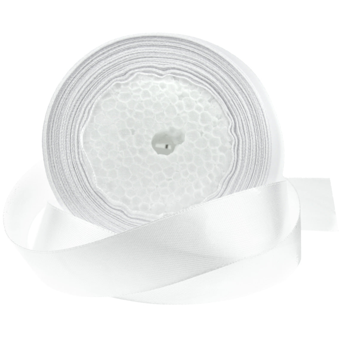 20mm White Single Sided Satin Ribbon
