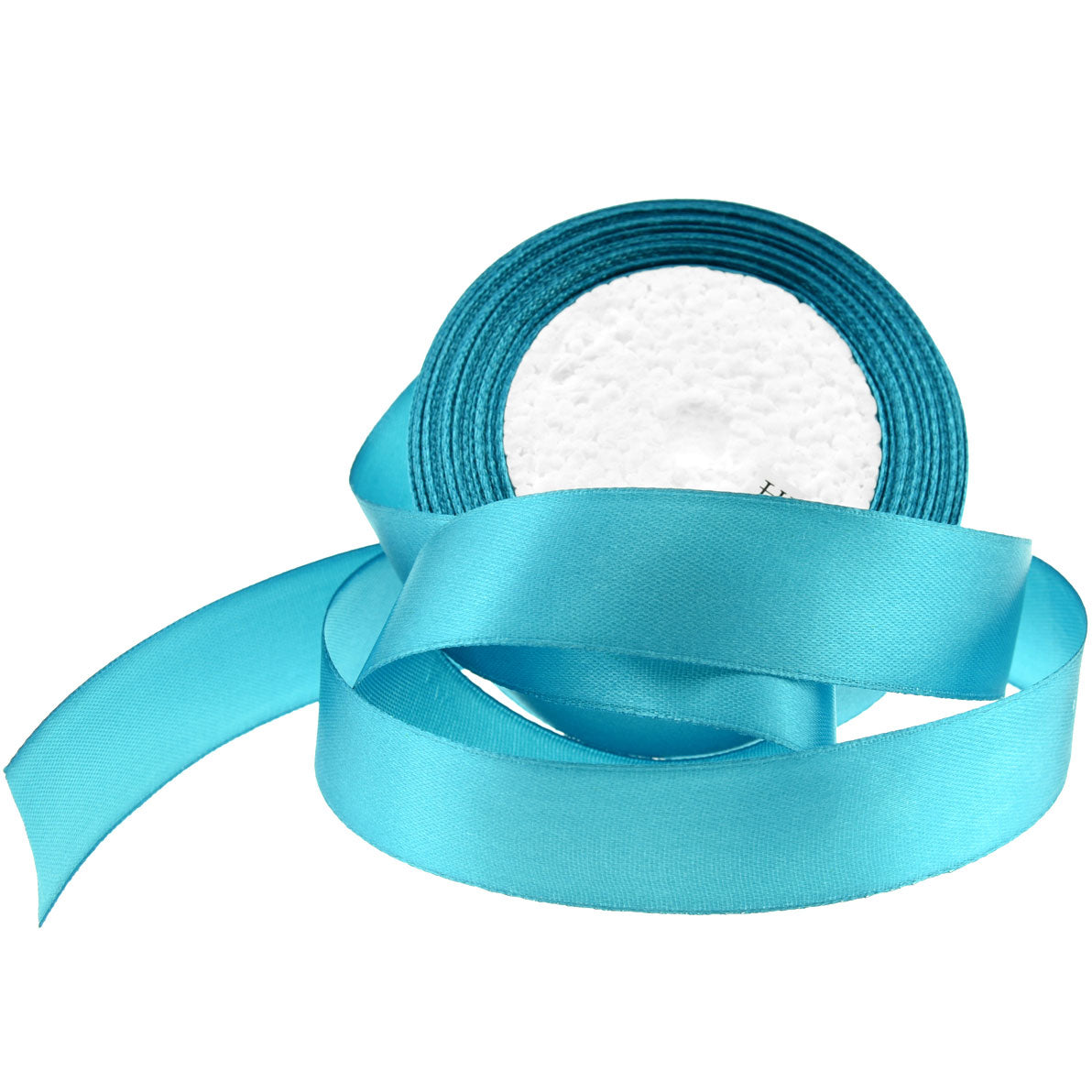 25mm Turquoise Single Sided Satin Ribbon