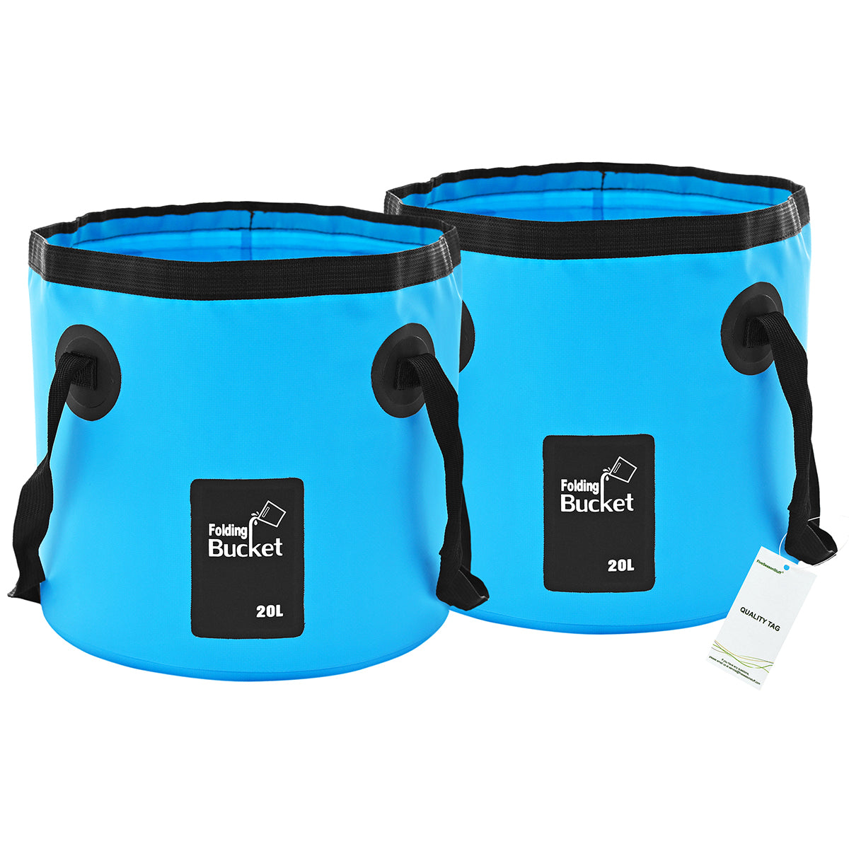 2 Collapsible Buckets 20 Liters