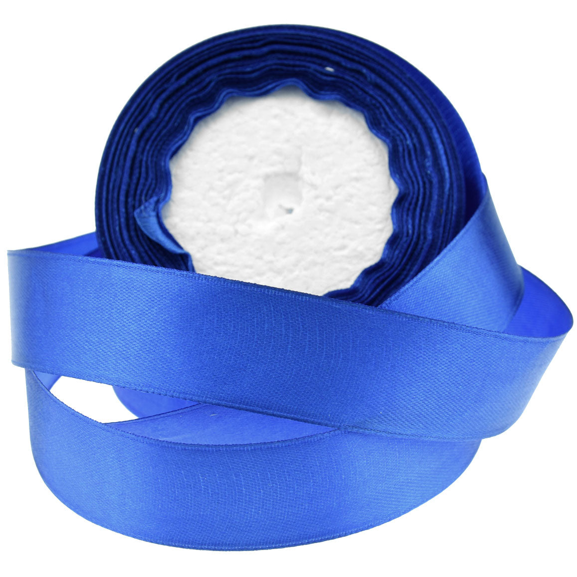 20mm Royal Blue Single Sided Satin Ribbon