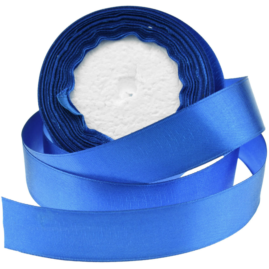 25mm Royal Blue Single Sided Satin Ribbon
