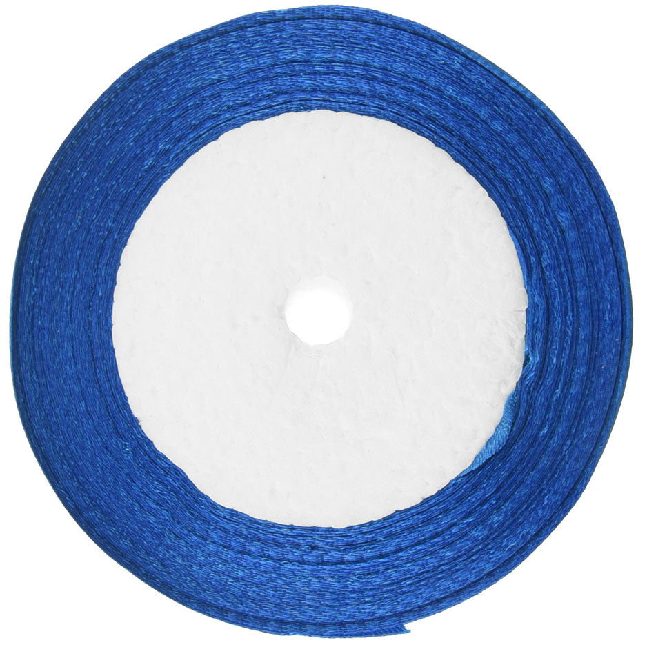 10mm Royal Blue Single Sided Satin Ribbon