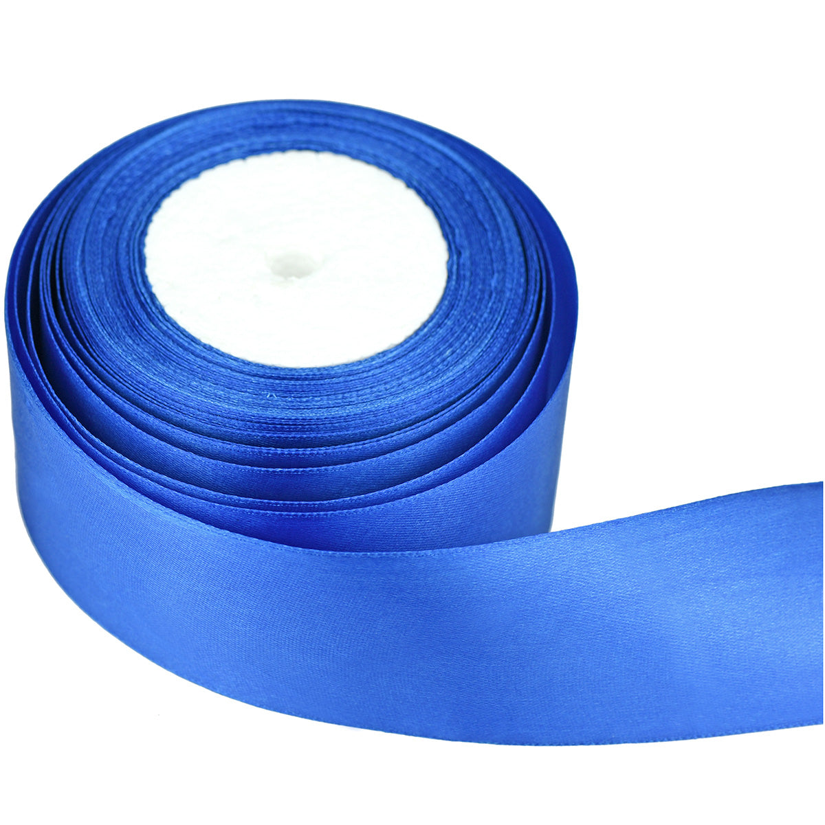 40mm Royal Blue Single Sided Satin Ribbon