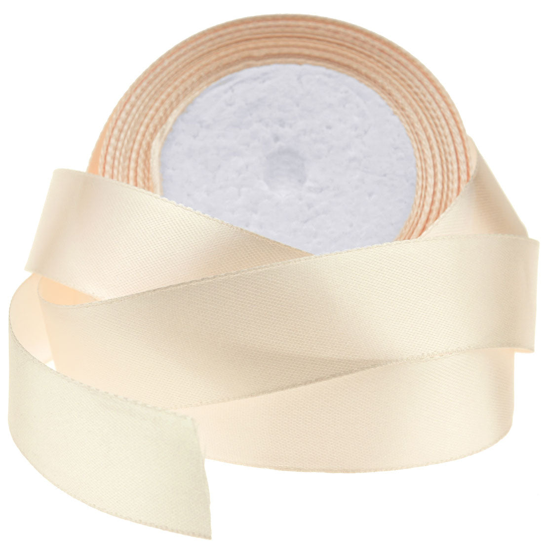 25mm Beige Single Sided Satin Ribbon