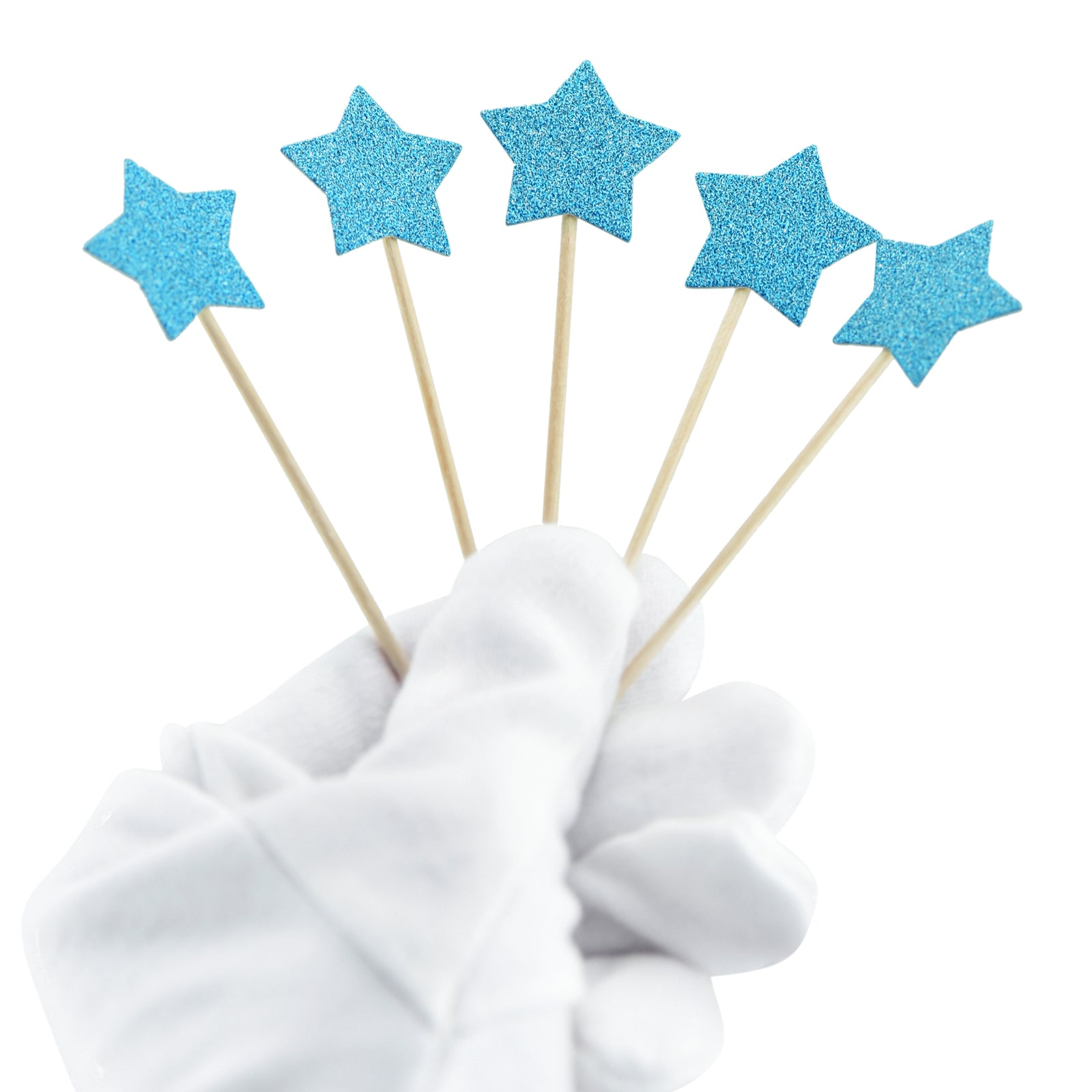 Blue Star Cake Toppers 50 Pcs