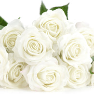 Real Touch Silk Artificial Flowers 'Petals Feel and Look like Fresh Roses 10 Stems