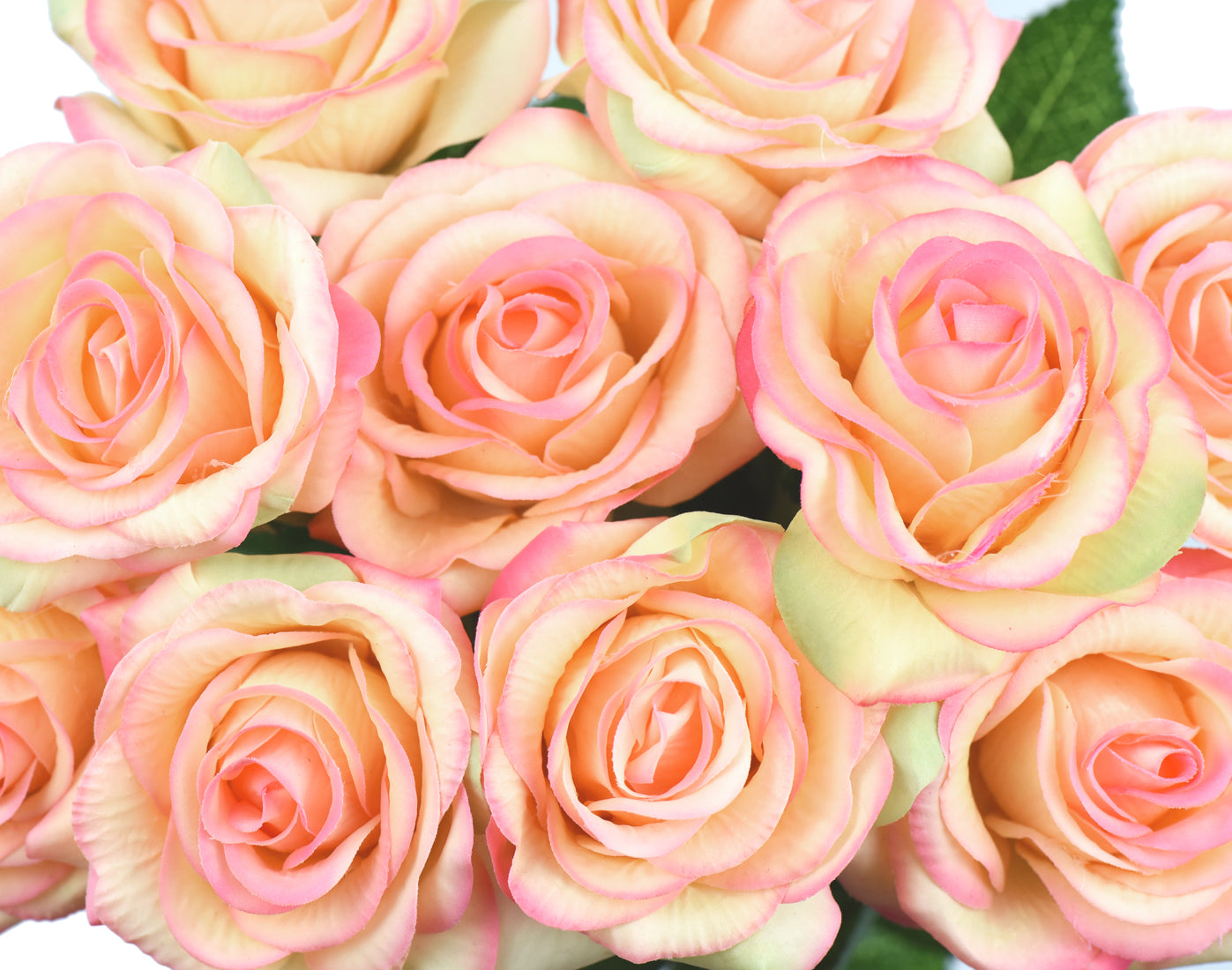 Love Peach Real Touch Silk Artificial Flowers 'Petals Feel and Look like Fresh Roses 10 Stems