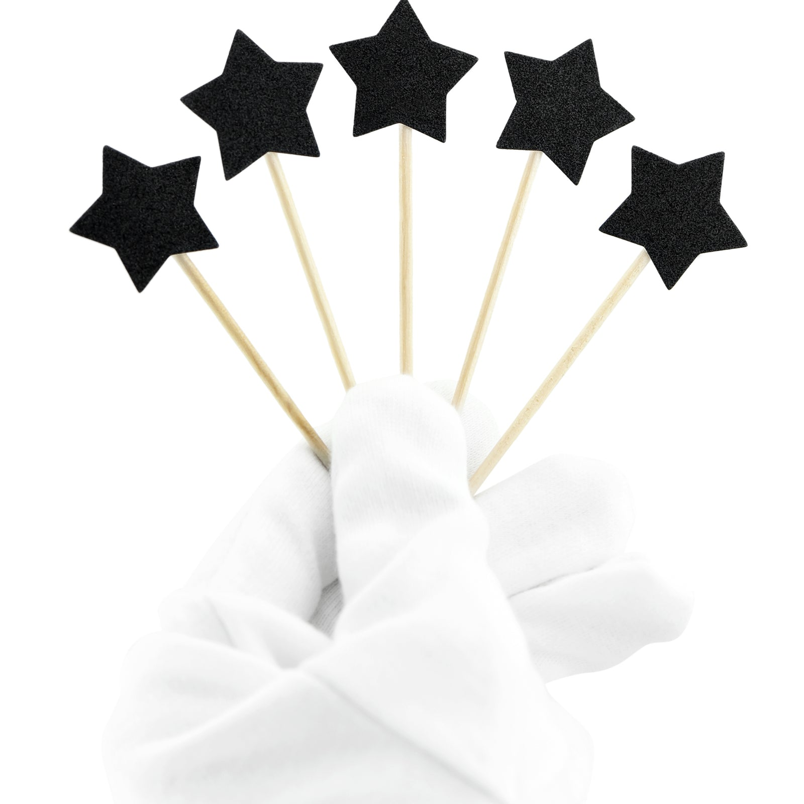 Black Star Cake Toppers 50 Pieces