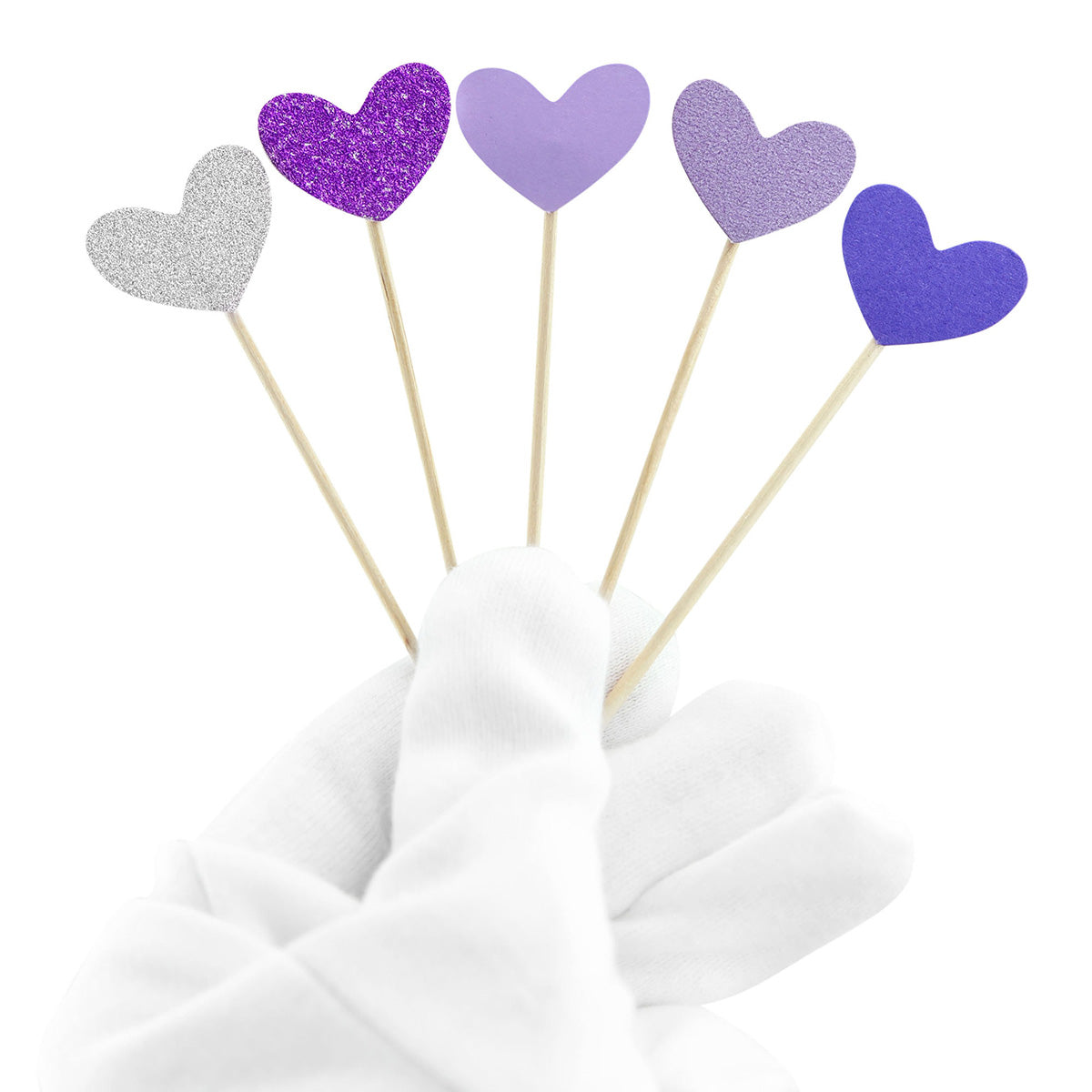 Purple Hearts Topper Picks 50 Pieces
