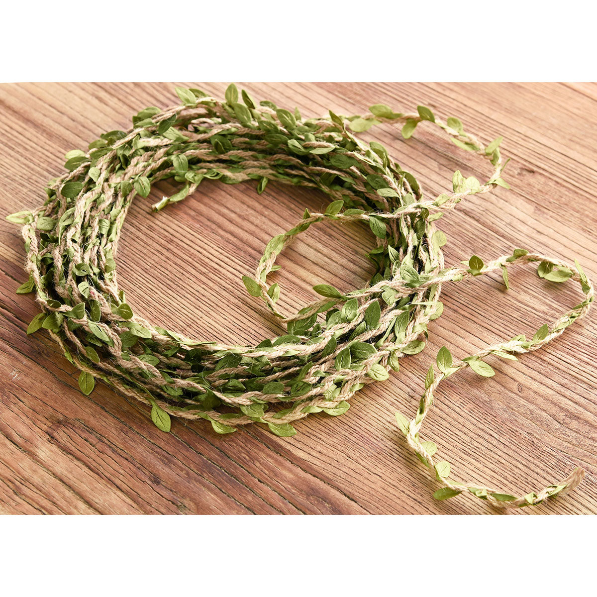 Natural Jute Twine Leaf Ribbon, Jute Rope Cord Tag String Roll, for Gift Wrapping Packaging Decoration/DIY Arts & Crafts, 10 metres (394 inches)