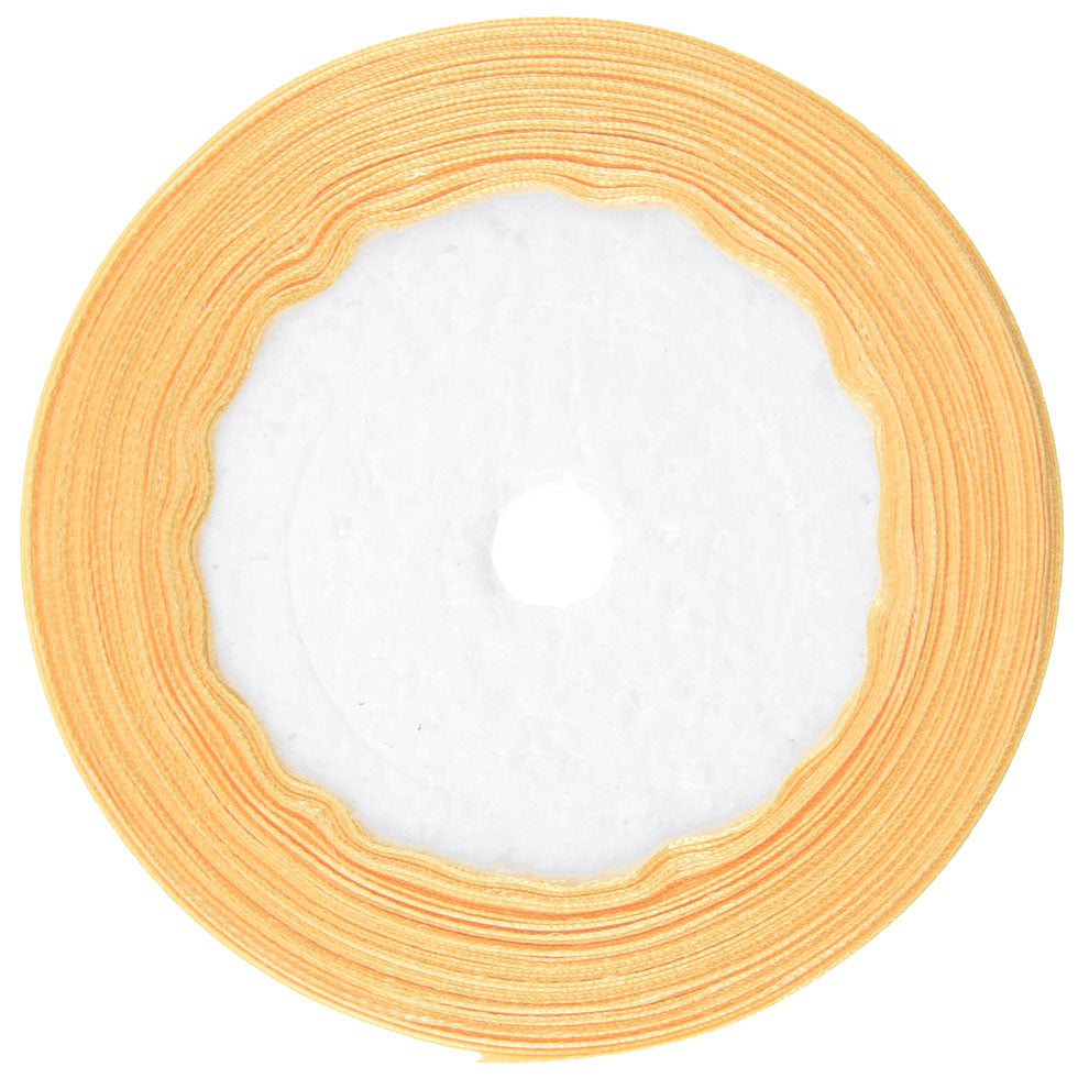 10mm Lemon Chiffon Single Sided Satin Ribbon