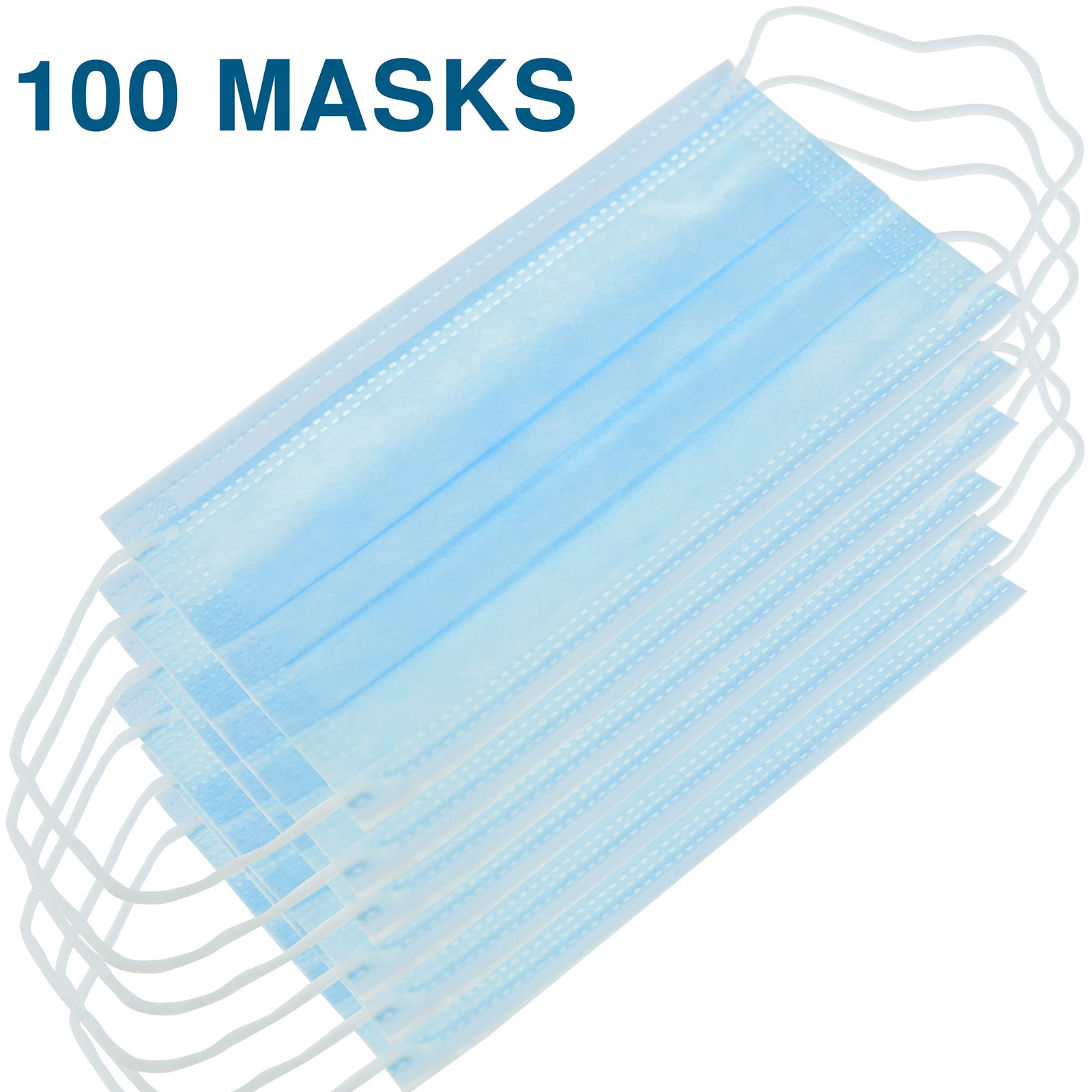 3 ply thick non-woven covid 19 coronavirus flu face masks protection 100 pcs pet set