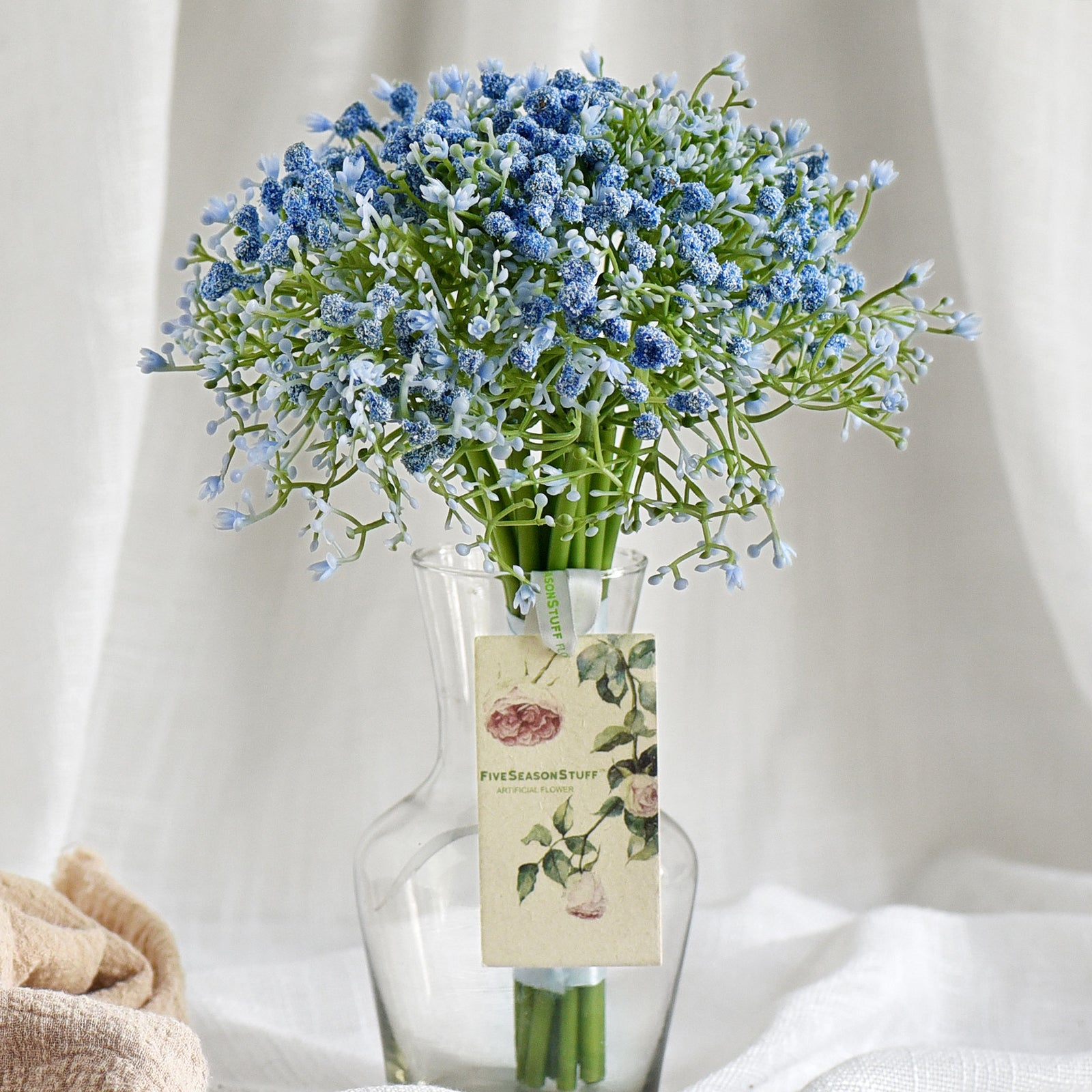 Artificial Flowers Home Artificial Silk Flower Bouquet Of 6 Baby Breath Flowers And 6 Silver Dollars Eucalyptus Arrangement Floral Bouquet For Wedding Bridal Spring Wreath Home Artificial Decoration Dinner Table Centerpieces
