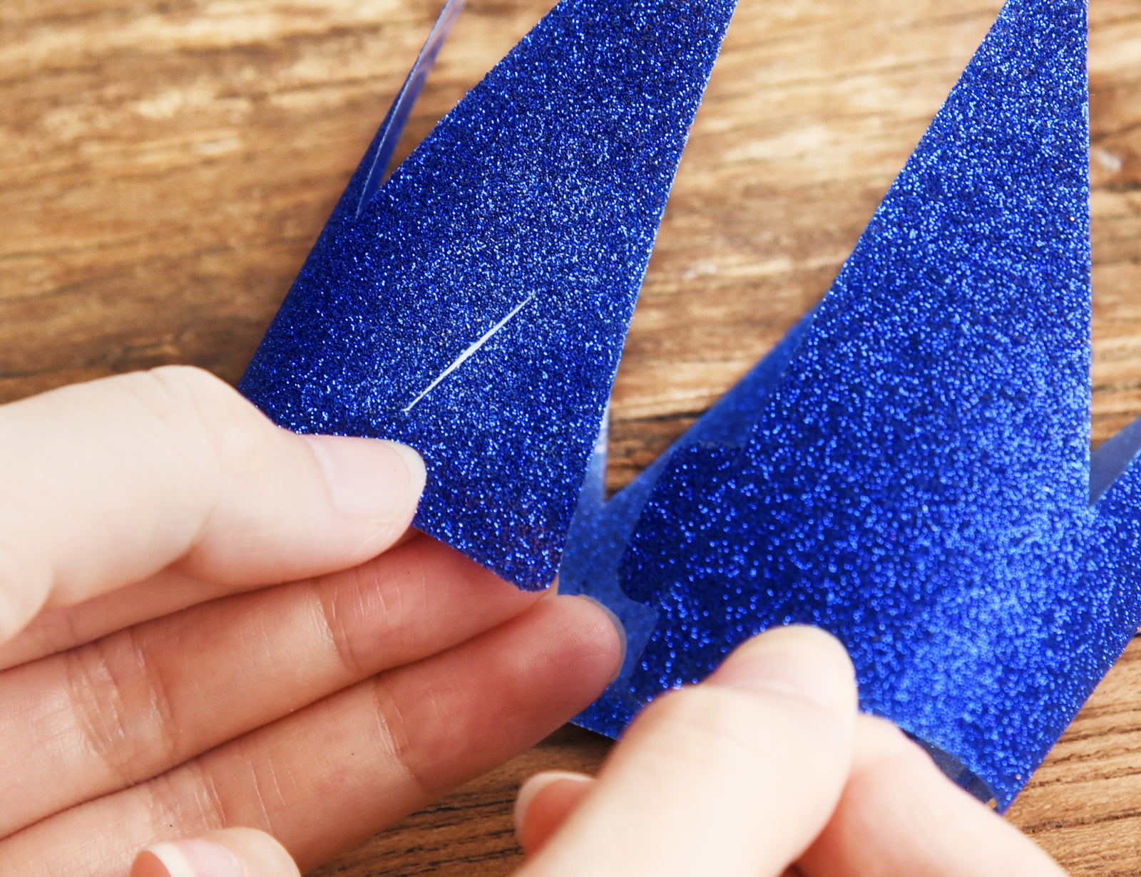 24 Royal Blue Glittery (Princess + Prince) Crown Party Hats