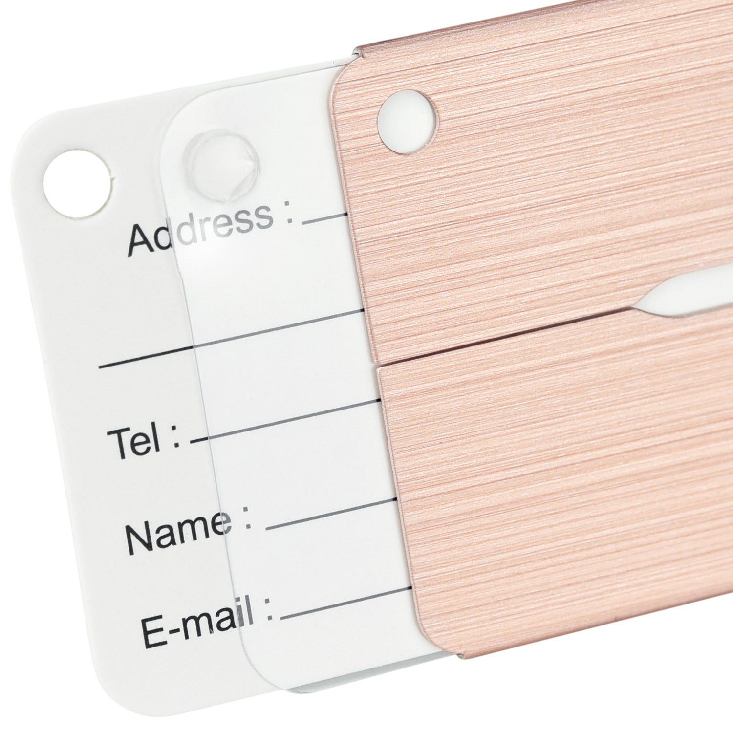 6 Rose Gold Hollow Airplane Pattern Aluminum Luggage Tags