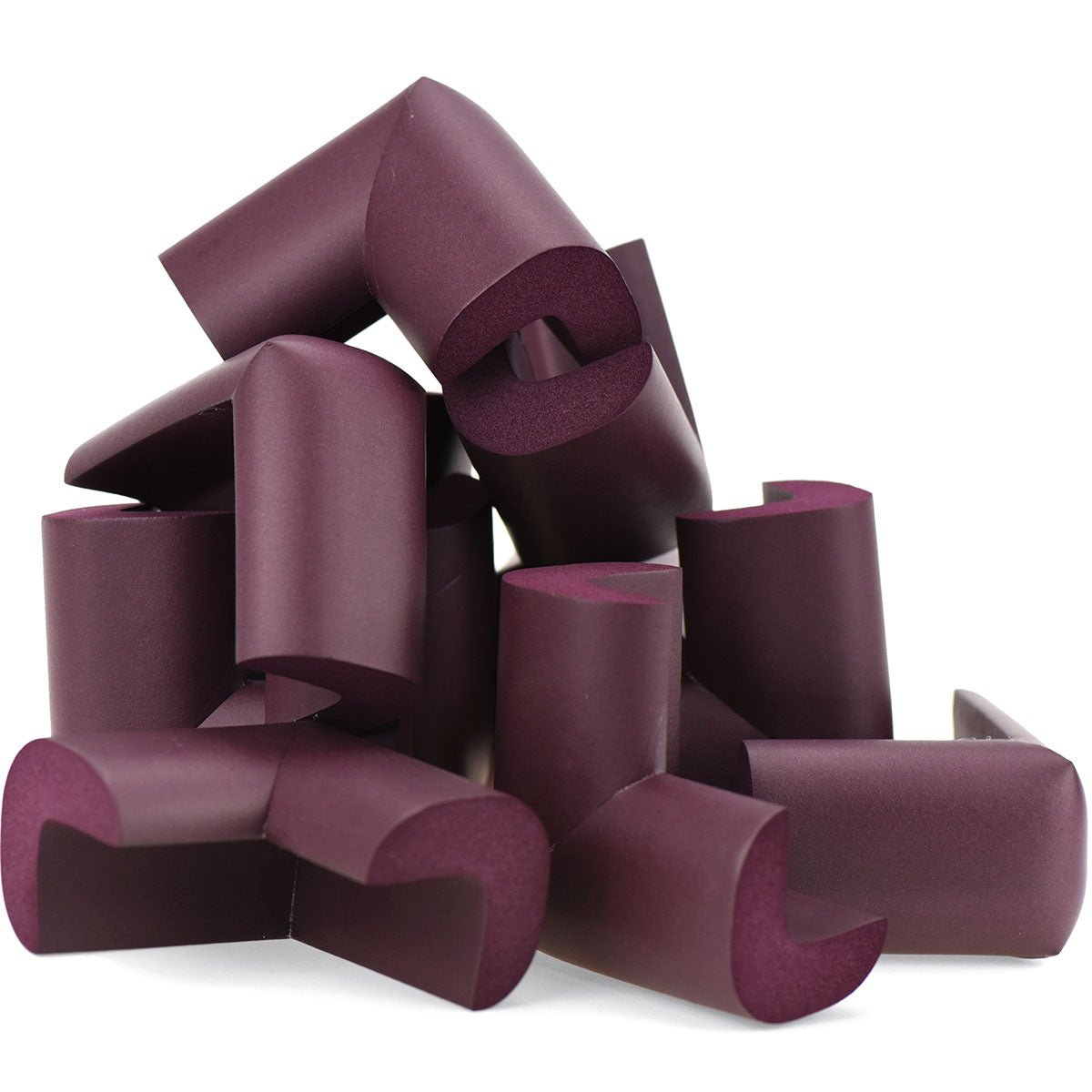 12 Pieces Maroon Jumbo L-Shaped Foam Corner Protectors