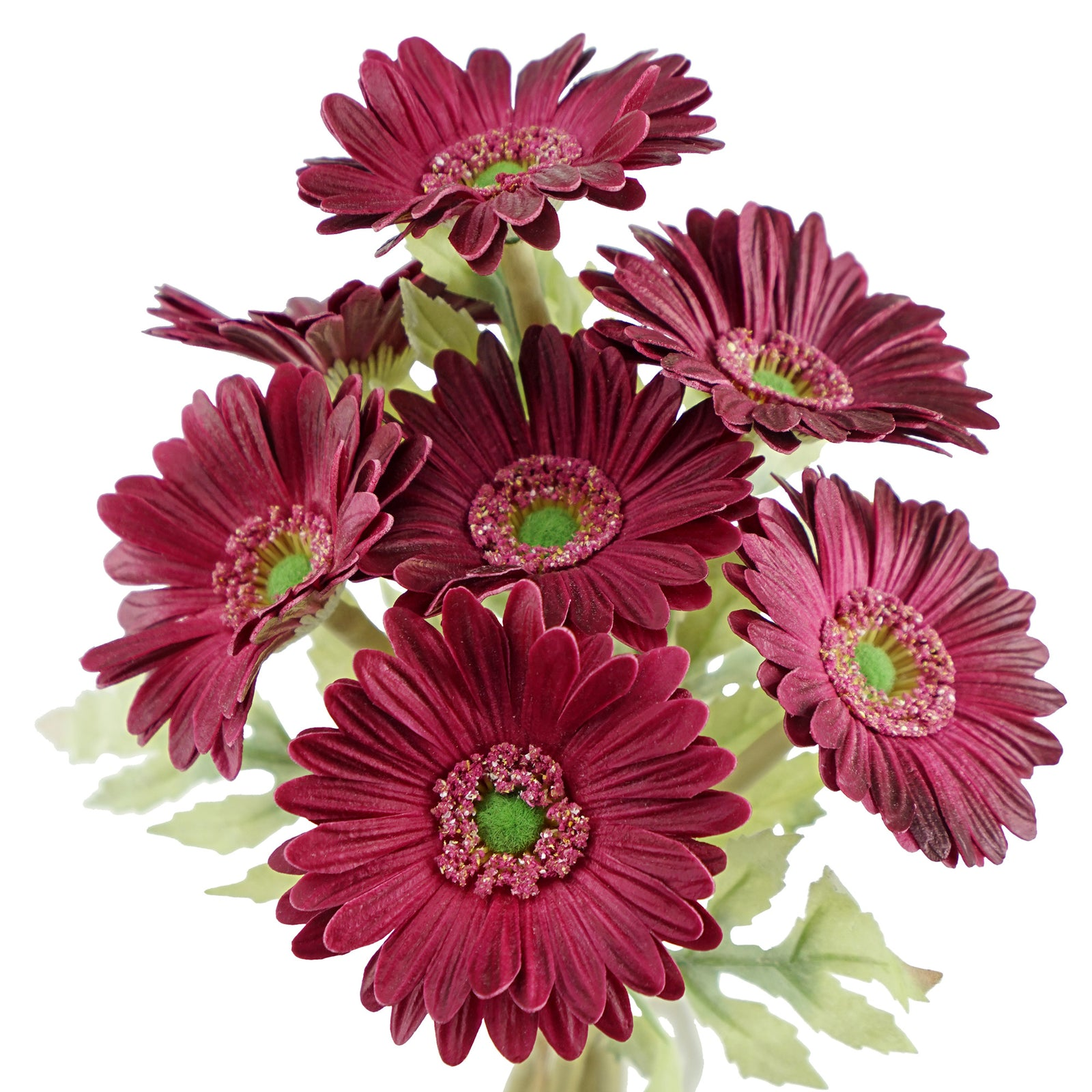FiveSeasonStuff 7 Stems of Artificial Real Touch Gerbera Flowers & Bouquet, for Home Décor