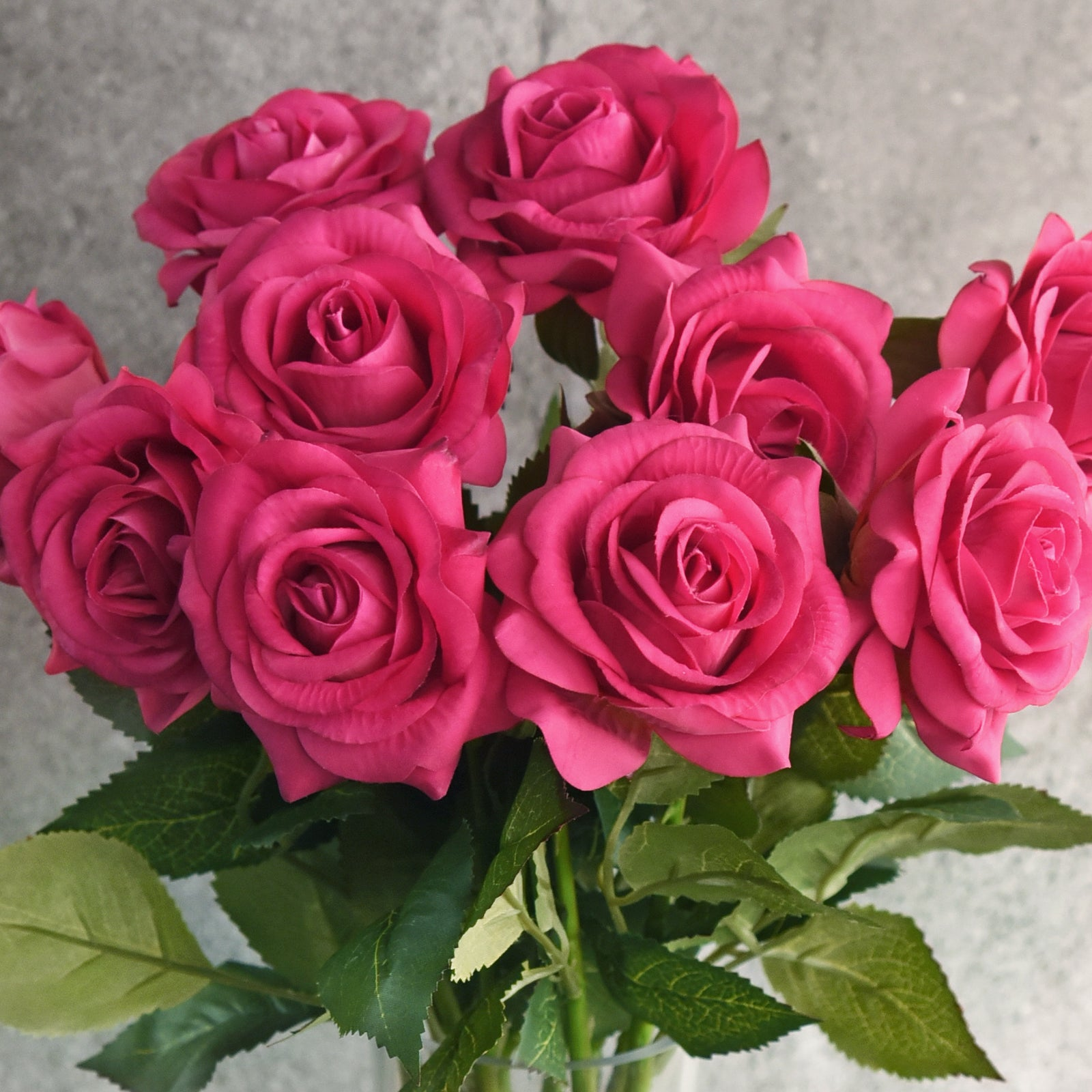 Hot Lady Real Touch Silk Artificial Flowers 'Petals Feel and Look like Fresh Roses 10 Stems