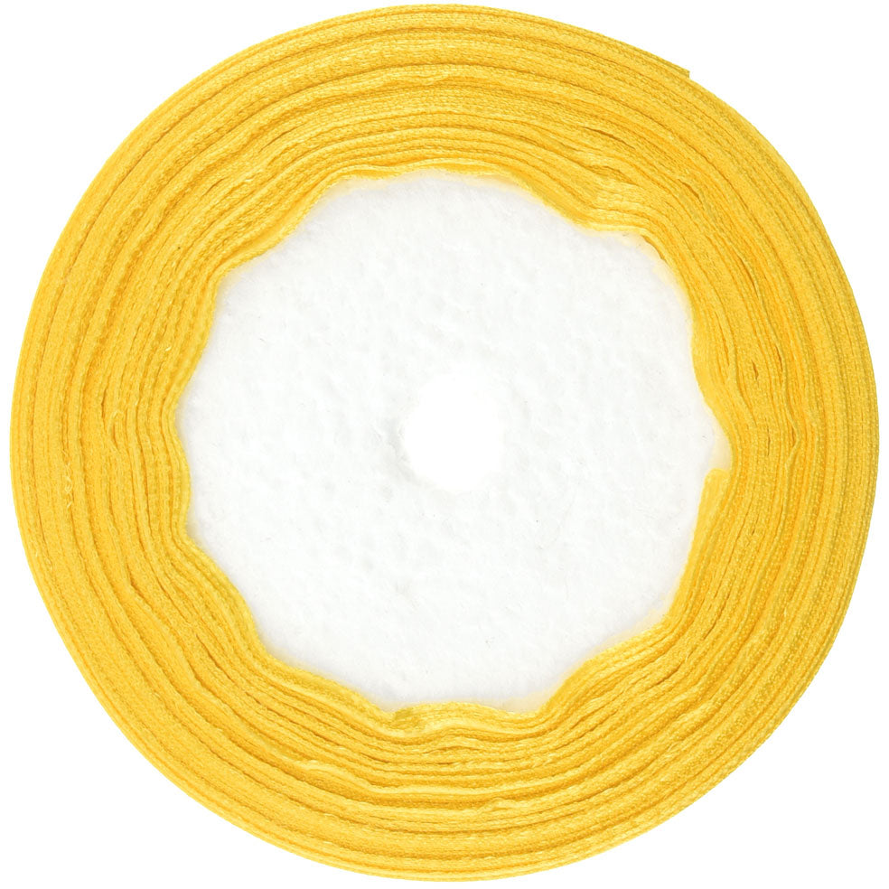 10mm Lemon Single Sided Satin Ribbon