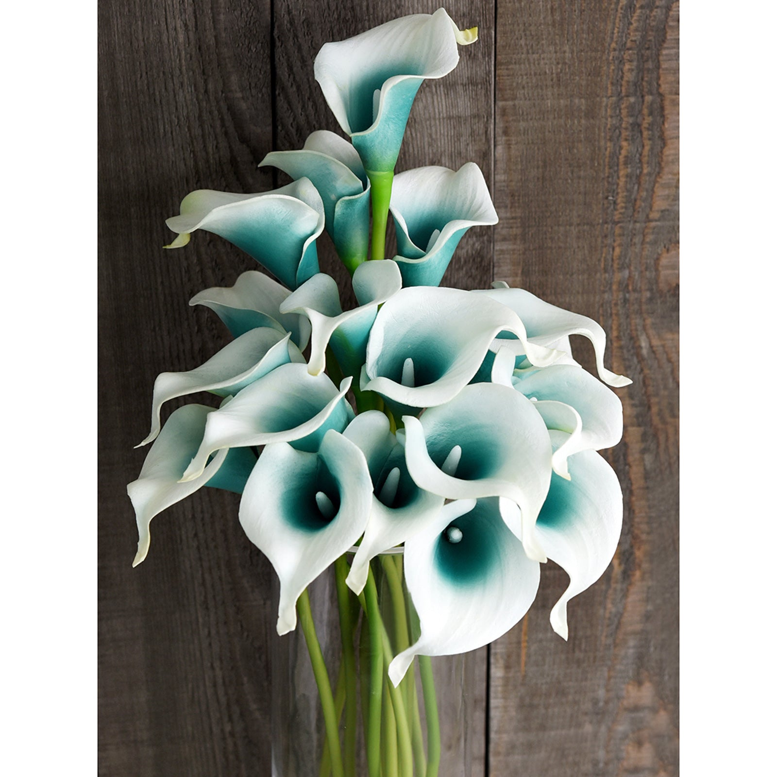 Deep Ocean Real Touch Calla Lilies Artificial Flower Bouquet 10 Stems