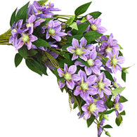 FiveSeasonStuff 6 Stems Artificial Plant Clematis Flowers Vine Kitchen Garden Party Decoration (Blue Violet)
