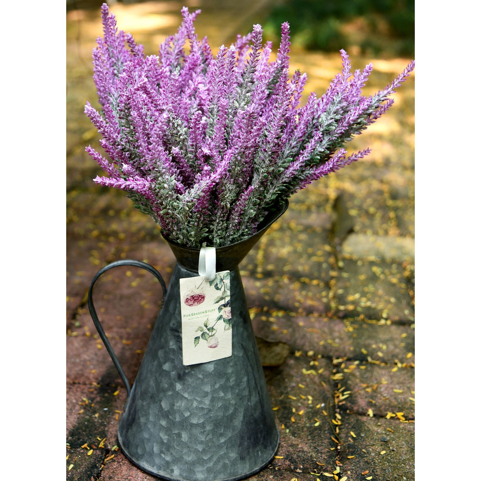 Artificial Flocked Red Violet Lavender Flowers & Bouquets 10 Bundles