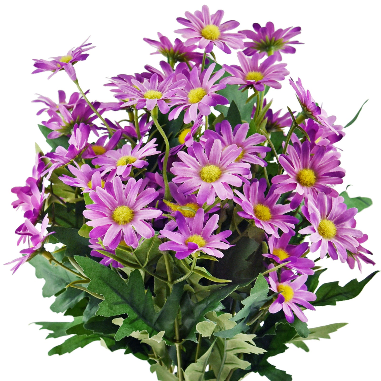 Daisy Silk Flowers Outdoor Artificial Flowers Arrangements (Majestic Purple) 2 Bunches
