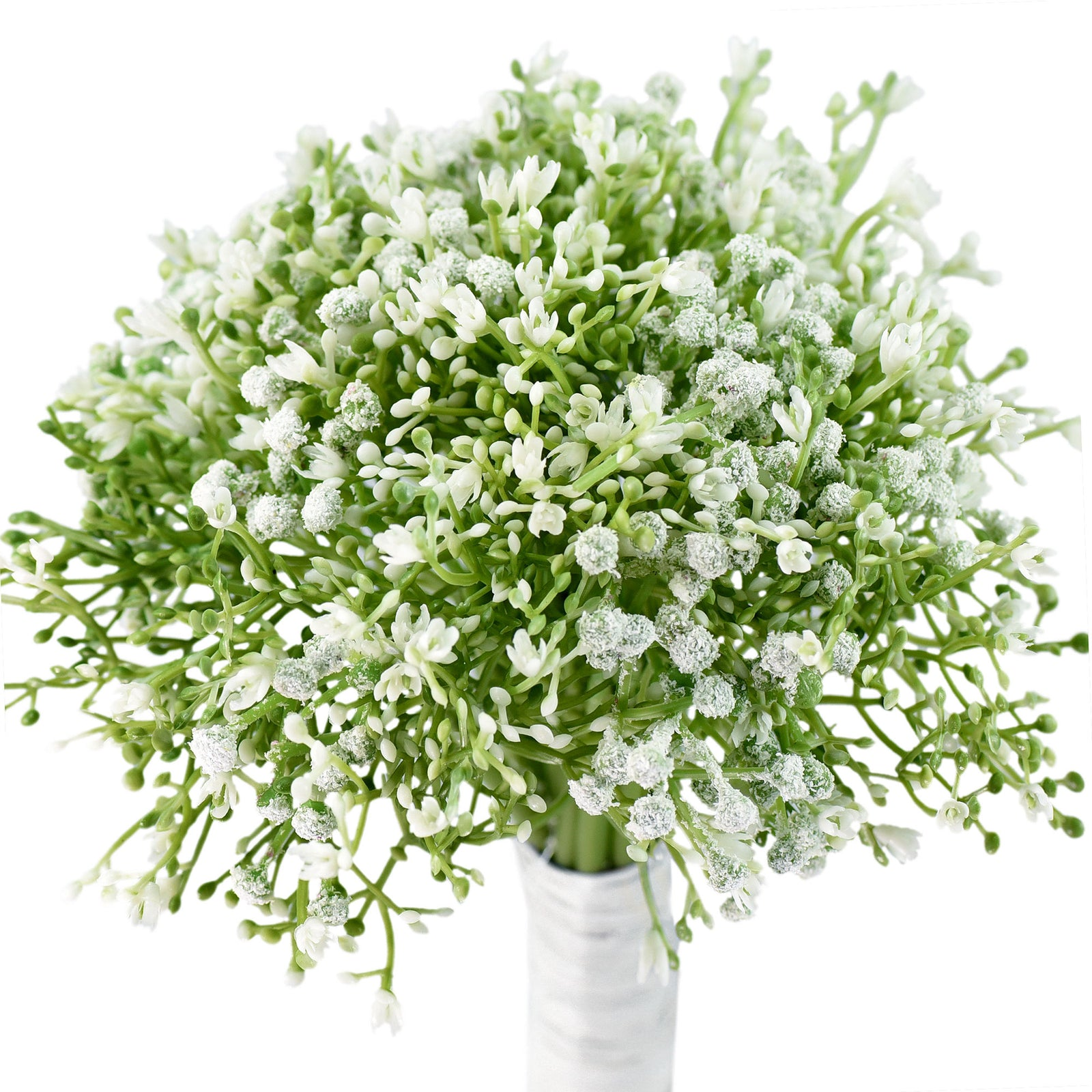 Baby's Breath Artificial Flowers Bouquet 1 Bundle (15 PCS) Baby's Breath Gypsophila 2 for Floral Arrangement, Wedding Flower Bouquet Décor (White)