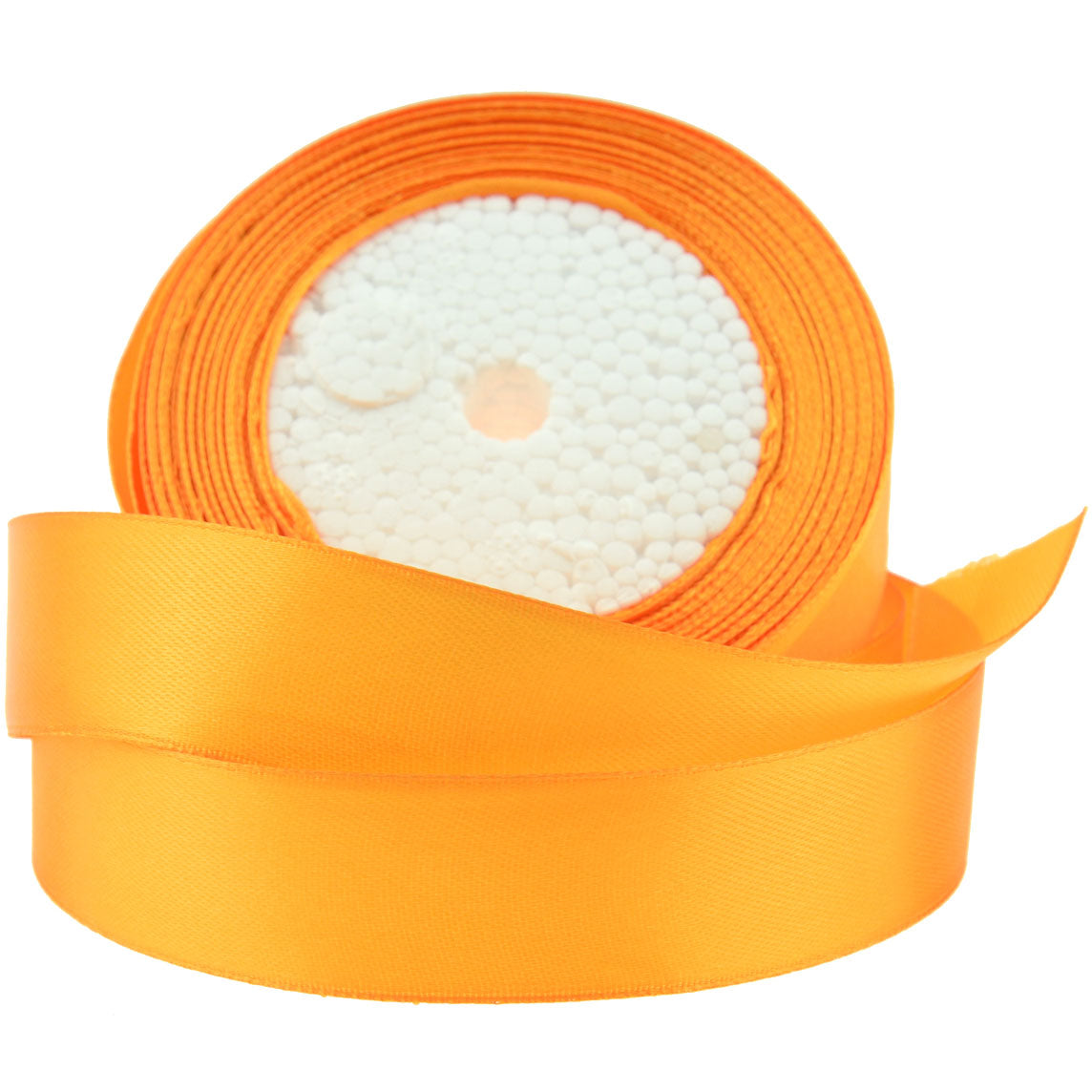20mm Orange Single Sided Satin Ribbon