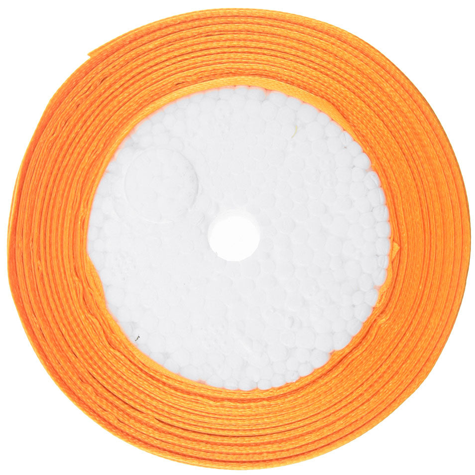 25mm Orange Single Sided Satin Ribbon