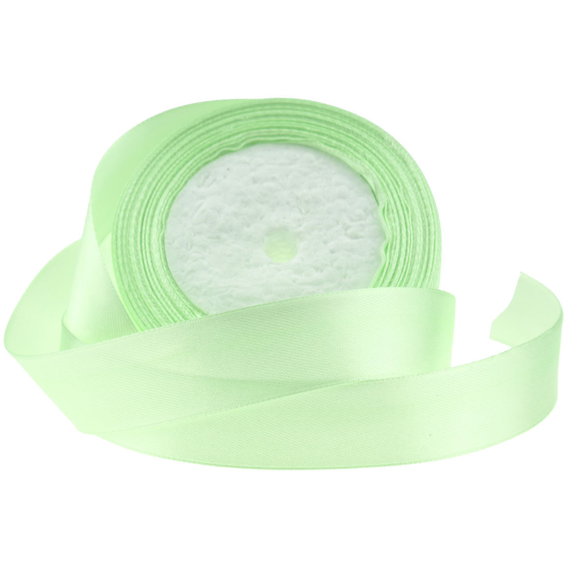 25mm Light Green Single Sided Satin Ribbon