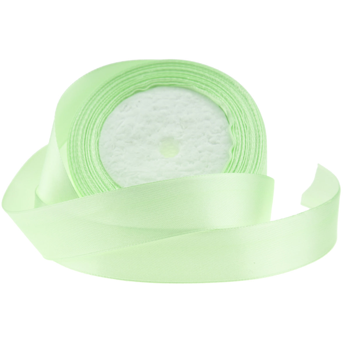10mm Light Green Single Sided Satin Ribbon