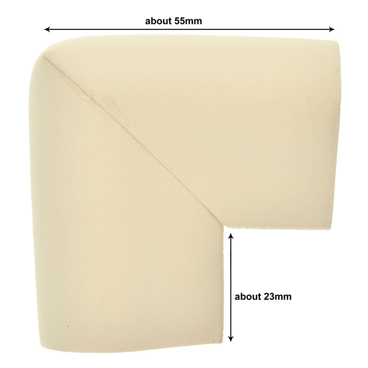 12 Pieces Beige U-Shaped Foam Corner Protectors