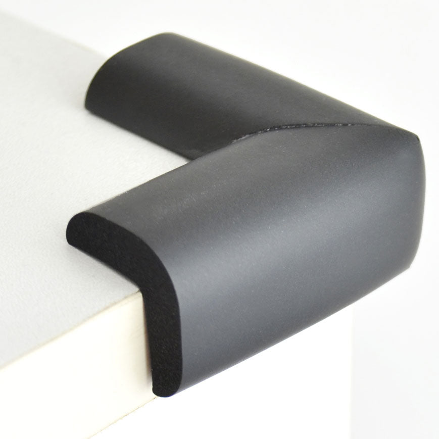 12 Pieces Black Standard L-Shaped Foam Corner Protectors