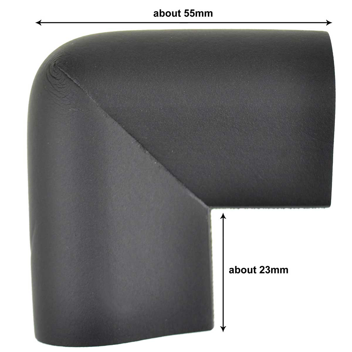 12 Pieces Black U-Shaped Foam Corner Protectors