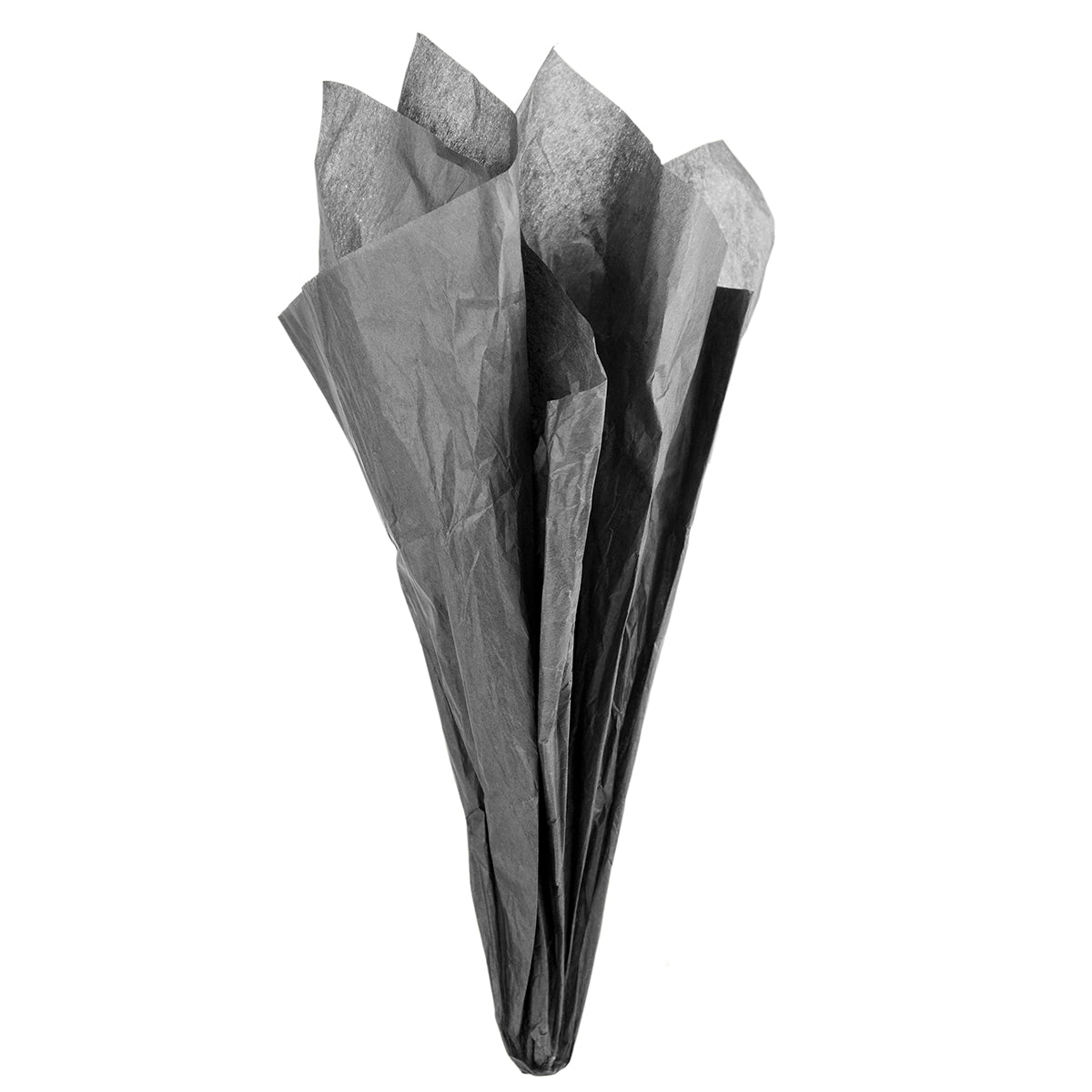 Displaying of a black tissue paper in ice cream cone shape