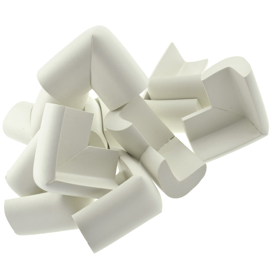 12 Pieces Cream White Jumbo L-Shaped Foam Corner Protectors