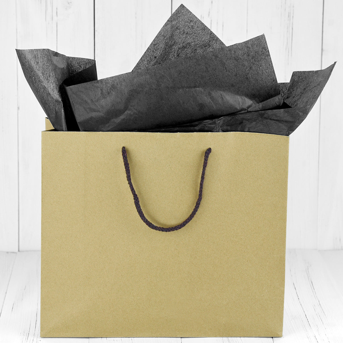 50 Sheets Black Wrapping Tissue Paper