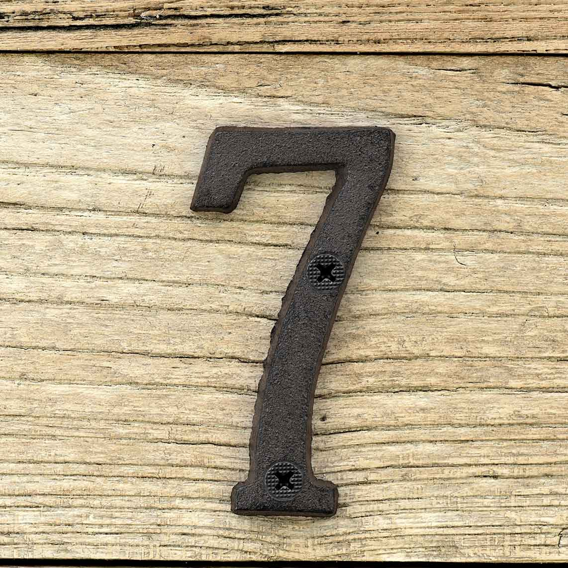 Cast Iron House Number Signs - Number 7