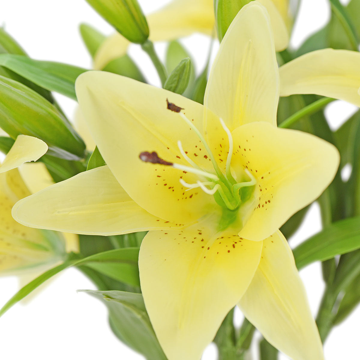 Real Touch Yellow Lilies Artificial Flower Bouquet 5 Stems